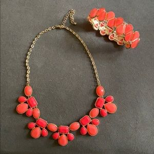 Francesca's statement necklace and bracelet
